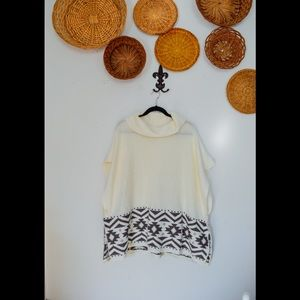 NWT Old Navy Cowl Neck Poncho Sweater